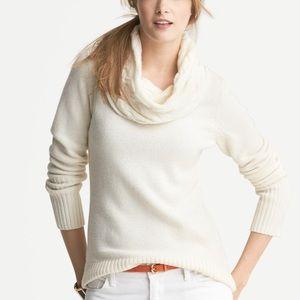 Banana Republic Cream Cowel Neck Sweater